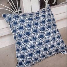 Nala Pillow Case - Pretty In Peranakan Flower Dark Blue (Large)