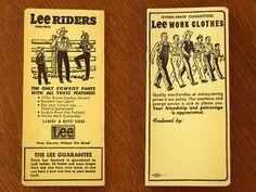 画像2: デッドストック Leeリー RIDERS ミニノートブック★アドバタイジング (2)