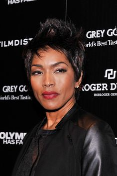 Angela Bassett edgy spiked 'do  #Hair #hairstyles