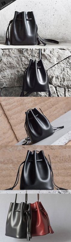 073a38a94b Genuine Leather bucket bag shoulder bag for women leather crossbody bag