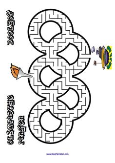 This Olympic rings shaped maze is a great printable maze activity page for kids excited about the summer olympics or the winter olympics. Kids Olympics, Special Olympics, Summer Olympics, Olympic Idea, Olympic Games, Theme Sport, Vive Le Sport, Olympic Crafts, Summer Reading Program