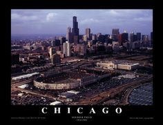 chicago bears stadium | Chicago: Soldier Field, Chicago Bears Poster von Mike Smith ...