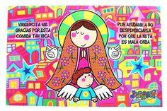 Dibujos para colorear de la virgencita plis - Imagui