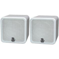 PYLE HOME PCB4WT 4 200-Watt Mini-Cube Bookshelf Speakers (White)