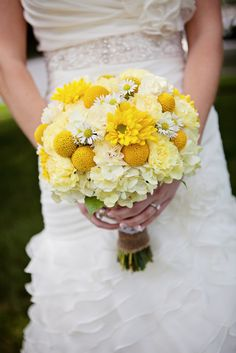 Bright Yellow Wedding Bouquet