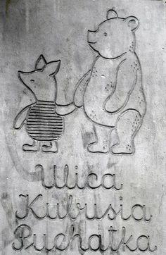 Pooh Bear street in Warsaw, Poland Warsaw City, Warsaw Poland, Visit Poland, Poland Travel, Pooh Bear, Central Europe, Eurotrip, My Heritage, Krakow