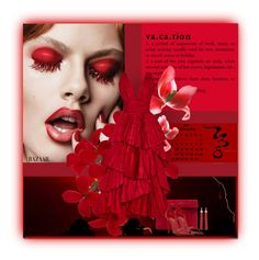"""""""red look"""" by silver-sun ❤ liked on Polyvore featuring Oscar de la Renta, Yves Saint Laurent, pretty and purse"""