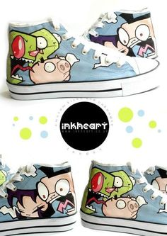 'Invader Zim High Top' It's like..they were made for me..