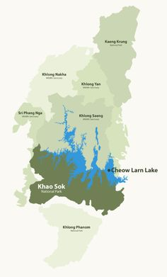Khao Sok National park map