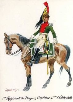French; 1st Dragoons, Elite Company, Captain, 1814 by R.Knotel