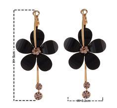 Zephyrr Fashion Earrings Red Glass Beaded Gold Tone Sun Shaped Hook Dangler For Women//Girls