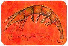 Shrimp Kitchen/Bath Mat