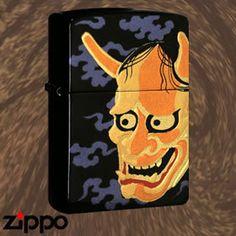 Japanese Demon Mask Zippo