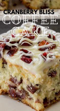 Mini Desserts, Easy Desserts, Delicious Desserts, Yummy Food, Cranberry Cake, Cranberry Recipes, Baking Recipes, Cake Recipes, Dessert Recipes