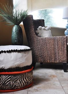 Mondo Piping Floor Cushion