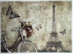 Rice Decoupage Paper / Decoupage Sheets  / Scrapbooking / PARIS BIKE / Vintage