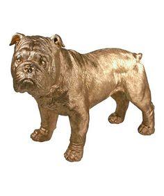 Look at this #zulilyfind! Gold Bulldog Shelf Décor by Streamline #zulilyfinds