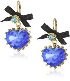 "Betsey Johnson ""Iconic Blue Lagoon"" Crystal Heart Drop Earrings Betsey Johnson,http://www.amazon.com/dp/B00AATYSXG/ref=cm_sw_r_pi_dp_F2CAsb01P1KQBW0D"
