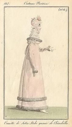 Multiple layer ruff. 1817. Costume parisien.