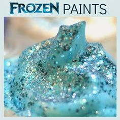 Growing A Jeweled Rose: Search results for Ice cream dough - All Post Frozen Painting, Ice Painting, Painting For Kids, Rock Candy Experiment, Candy Experiments, Ice Cream Dough, Elsa Birthday Party, 3rd Birthday, Snow Recipe