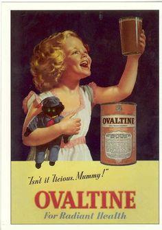 """OVALTINE DRINK   VINTAGE POSTER  8""""X6"""" METAL SIGN"""