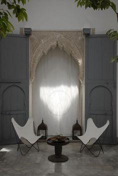 Dar Kawa: Au fil des jours  Photo : N.Tosi Small patio barefootstyling.com