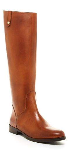 Cognac Jola Leather Tall Boots by Charles David