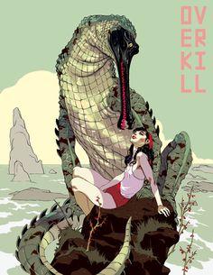 Girl & Lizard by T.Hanuka