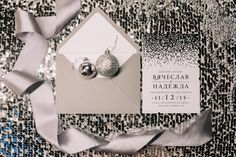 wedding invitation invite silver mirror shine winter grey свадебные приглашения…