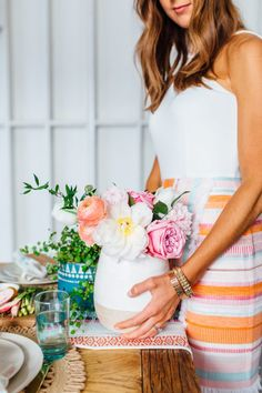 How to Host the Ultimate Spring Brunch (Just in Time for Easter! Ladies Luncheon, Domestic Goddess, Peonies, Ranunculus, Party Entertainment, Holiday Fun, Holiday Ideas, Holiday Recipes, Centerpieces