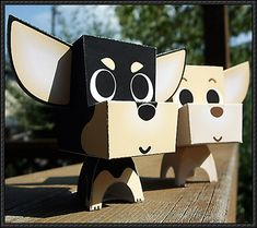 A cute Chihuahua paper craft