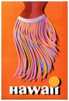 Hawaii Digital Art - Hawaii Hula Skirt Vintage World Travel Poster by Retro Graphics Hawaii Vintage, Vintage Hawaiian, Hawaii Hula, Oahu Hawaii, Kauai, Blue Hawaii, Hula Skirt, Travel Ads, Air Travel