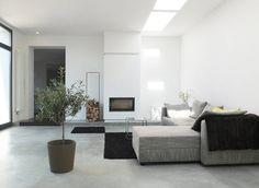 Uberlegen Reduzierte Materialwahl Im Wohnraum : Modernistyczny Salon Od Qbus  Architektur U0026amp; Innenarchitektur Moderne Wohnzimmer,