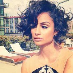 Short Hair Styles for Curly Hair | 2013 Short Haircut for Women | Model Nazanin Mandi