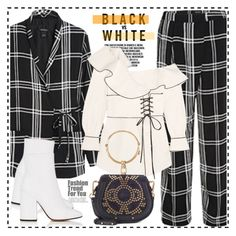 """Checked suit"" by anne-irene on Polyvore featuring self-portrait and Chloé"