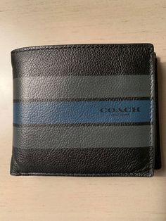 86896420df4 COACH MEN S LEATHER WALLET BLACK GREY BLUE W  ID HOLDER AND 8 CARD SLOTS   fashion  clothing  shoes  accessories  mensaccessories  wallets (ebay link)