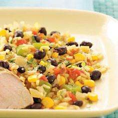 Southwestern Rice:  8 servings; 198 calories, 3 g fat (1 g saturated fat), 1 mg cholesterol, 339 mg sodium, 37 g carbohydrate, 5 g fiber, 7 g protein per serving