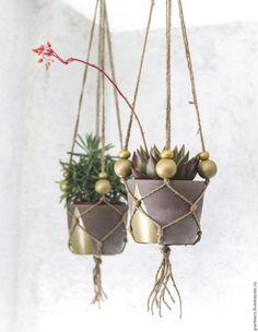Плетём кашпо-макраме: мастер-класс от журнала «Mollie Makes» - Ярмарка Мастеров - ручная работа, handmade