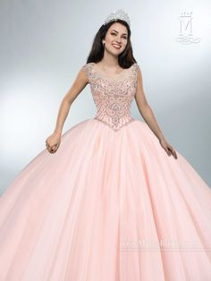 Create amazing memories in a Mary's Bridal Beloving Collection Quinceanera Dress Style 4694 at your Sweet 15 party or at any formal event. Tulle quinceanera ball gown with cap sleeves, scoop neckline,