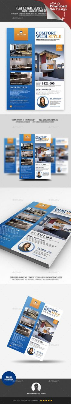 apartment, building, buy houses, condo, condominium, handout, home, house, house and lot, house for sale, house rental, letter, listing, modern, professional, property, publication, real estate, real estate agent, renovation, rental, sell houses Real Estate Modern Promotional Flyer Design Template   Boost your company's sales and attract new customers! This Real Estate Modern Promotional Flyer   Design Template have been developed to boost your Ultimate Marketing strategy and brand/product…