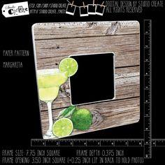 photo frame - margarita (island getaway, beach, drinks) by studioCREATE on Etsy Beach Drinks, Frame Sizes, Pattern Paper, Margarita, Island, Cool Stuff, Etsy, Design