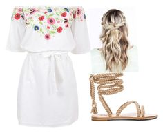 A fashion look from June 2017 featuring white summer dress and summer sandals. Browse and shop related looks. Shoe Bag, Flowers, Polyvore, Stuff To Buy, Shopping, Shoes, Collection, Dresses, Design