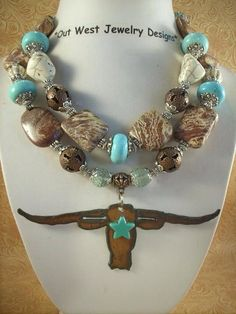 Out West Jewelry Designs Chunky Longhorn Necklace