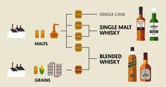 世界中には様々なウイスキーがあるが、代表ともいえる存在が英国スコットランドで造られるスコッチウイス… Laphroaig Whisky, Blended Whisky, Whisky Tasting, Beverages, Drinks, Wine And Spirits, Liquor, Whiskey, Infographic