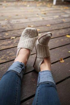 Crochet Pattern Adult Little Wrap Slippers
