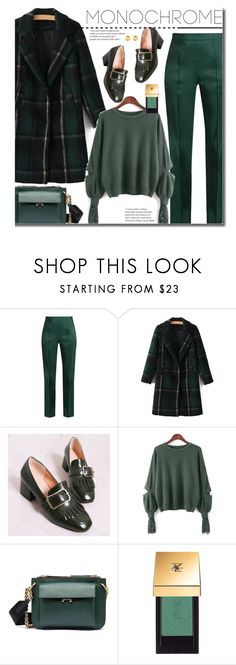 """Work Wear:  One Color, Head to Toe"" by beebeely-look ❤ liked on Polyvore featuring Rosie Assoulin, Marni, Yves Saint Laurent, WorkWear, monochrome, officestyle, twinkledeals and embellishedsleeves"