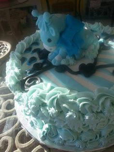 Baby boy shower cake by care
