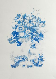 Pencil drawings & blue prints by Anne Grön, via Behance