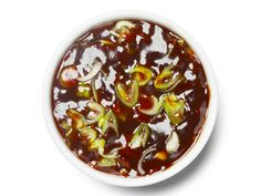 Hoisin BBQ Sauce : Cook 2 minced garlic cloves in a saucepan with olive oil, 1 minute. Stir in 1/2 cup hoisin sauce, 2 tablespoons each rice vinegar and dry sherry, 1 tablespoon each soy sauce and ketchup and 1/3 cup water. Simmer until thick, stirring, 20 minutes. Let cool, then add 1/2 teaspoon sesame oil and 1 chopped scallion.