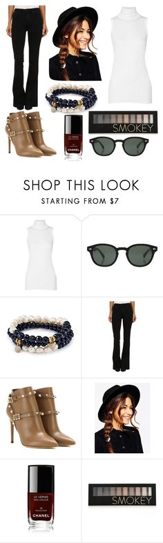 """Ms. Independent"" by magnificentmichelle ❤ liked on Polyvore featuring Rick Owens, Moscot, Sequin, Paige Denim, Valentino, ASOS, Chanel and Forever 21"
